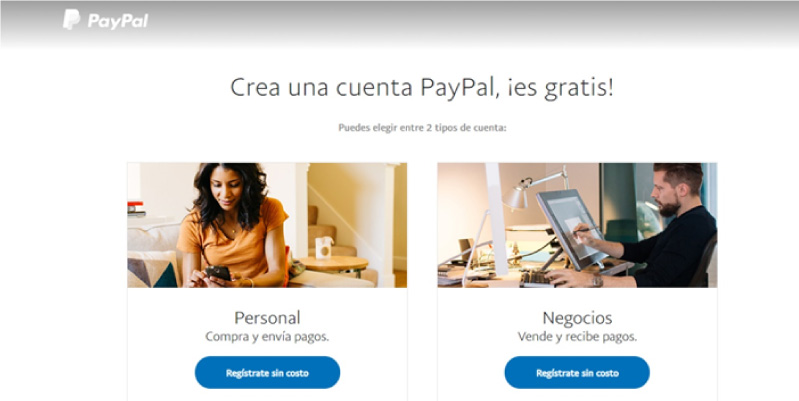 paypal registrarse