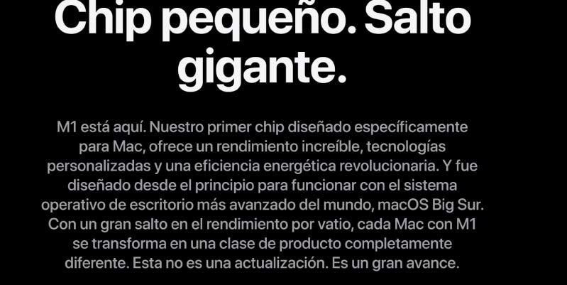 Apple M1: Características principales